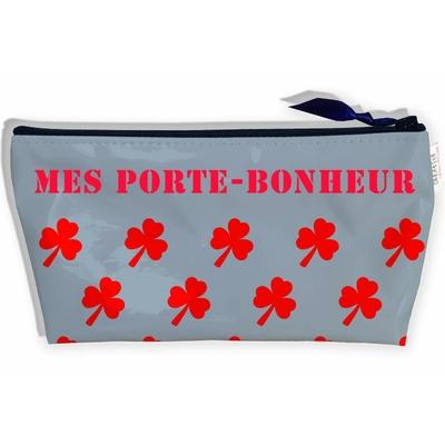 Trousse Porte-Bonheur pour le voyage et les vacances, Trousse de rangement Mots intimes Trousse originale et fantaisie 9019