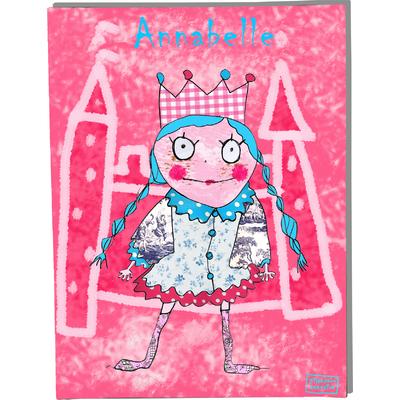 Tableau décoratif personnalisé pour chambre de bébé enfant fille, montée sur châssis en bois, dim. l. 30 x H. 40 cm, Réf. B0307-2007