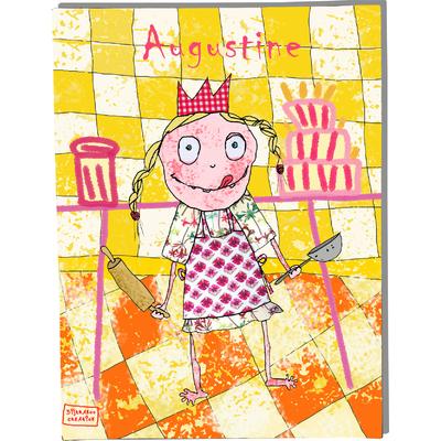 Tableau décoratif personnalisé pour chambre de bébé enfant fille, montée sur châssis en bois, dim. l. 30 x H. 40 cm, Réf. B0607-2007