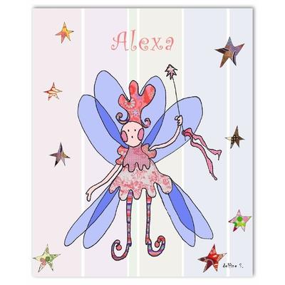 Tableau décoratif personnalisé pour chambre de bébé enfant fille, montée sur châssis en bois, dim. l. 30 x H. 40 cm, Réf. R0407-2007