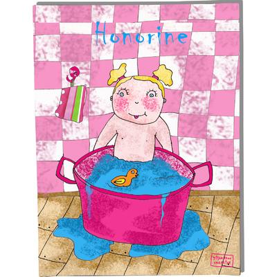 Tableau décoratif personnalisé pour chambre de bébé enfant garçon, montée sur châssis en bois, dim. l. 30 x H. 40 cm, Réf. A5910-2010