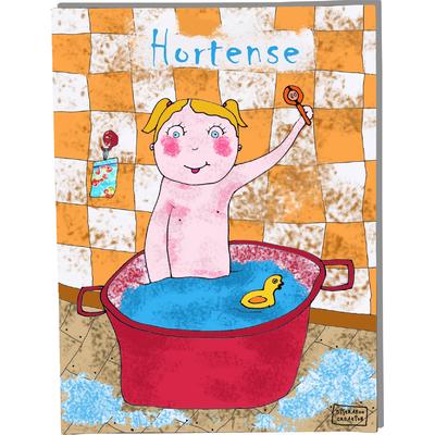 Tableau décoratif personnalisé pour chambre de bébé enfant garçon, montée sur châssis en bois, dim. l. 30 x H. 40 cm, Réf. A6010-2010