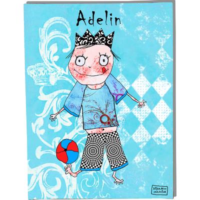 Tableau décoratif personnalisé pour chambre de bébé enfant garçon, montée sur châssis en bois, dim. l. 30 x H. 40 cm, Réf. C0607-2007