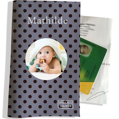 Porte ordonnance personnalisable pour bébé fille Enfant - photo et texte de votre choix (P2057-2015-photo)