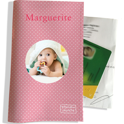 Porte ordonnance personnalisable pour bébé fille Enfant - photo et texte de votre choix (P2062-2015-photo)