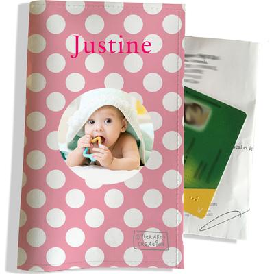 Porte ordonnance personnalisable pour bébé fille Enfant - photo et texte de votre choix (P2070-2015-photo)