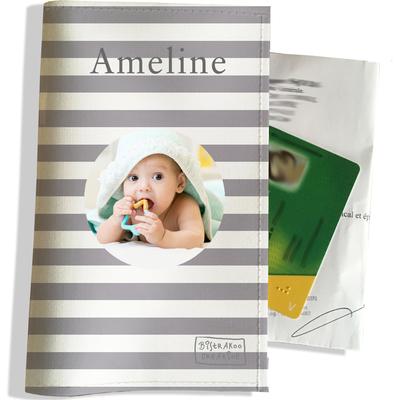 Porte ordonnance personnalisable pour bébé fille Enfant - photo et texte de votre choix (P3007-2015-photo)