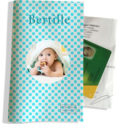 Porte ordonnance personnalisable pour bébé fille Enfant - photo et texte de votre choix (P714-2015-photo)