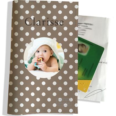 Porte ordonnance personnalisable pour bébé fille Enfant - photo et texte de votre choix (P2058-2015-photo)