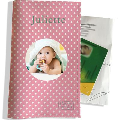 Porte ordonnance personnalisable pour bébé fille Enfant - photo et texte de votre choix (P2060-2015-photo)