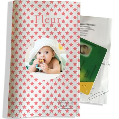 Porte ordonnance personnalisable pour bébé fille Enfant - photo et texte de votre choix (P2089-2015-photo)