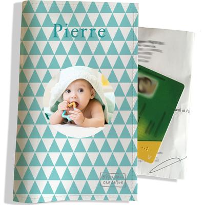 Porte ordonnance personnalisable pour bébé garçon Enfant - photo et texte de votre choix (P2083-2015-photo)