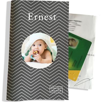 Porte ordonnance personnalisable pour bébé garçon Enfant - photo et texte de votre choix (P2084-2015-photo)