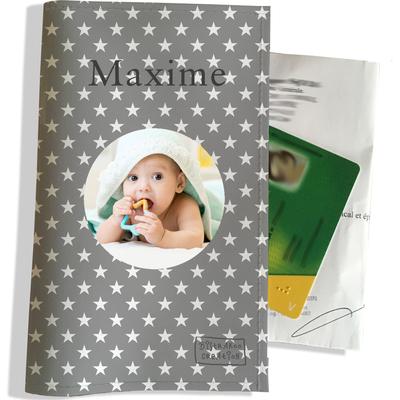 Porte ordonnance personnalisable pour bébé garçon Enfant - photo et texte de votre choix (P2090-2015-photo)