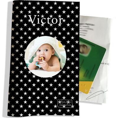 Porte ordonnance personnalisable pour bébé garçon Enfant - photo et texte de votre choix (P2092-2015-photo)