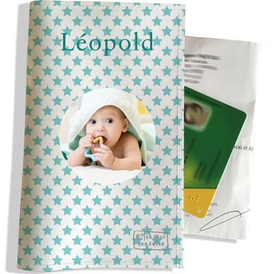 Porte ordonnance personnalisable pour bébé garçon Enfant - photo et texte de votre choix (P2093-2015-photo)