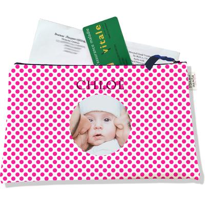 Porte ordonnances personnalisable zippé pour bébé fille Enfant - photo et texte de votre choix (POZ716-2015)
