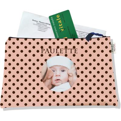 Porte ordonnances personnalisable zippé pour bébé fille Enfant - photo et texte de votre choix (POZ2059-2015)