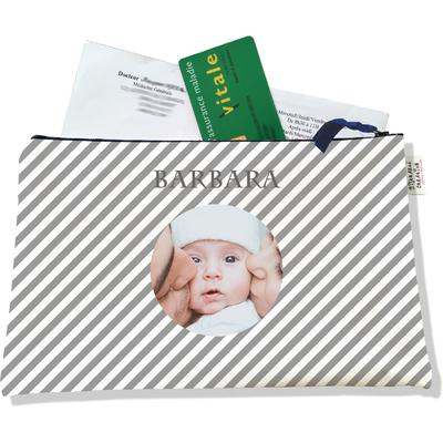 Porte ordonnances personnalisable zippé pour bébé fille Enfant - photo et texte de votre choix (POZ2073-2015)