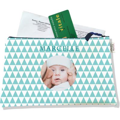 Porte ordonnances personnalisable zippé pour bébé fille Enfant - photo et texte de votre choix (POZ2083-2015)