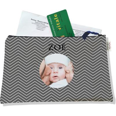 Porte ordonnances personnalisable zippé pour bébé fille Enfant - photo et texte de votre choix (POZ2084-2015)