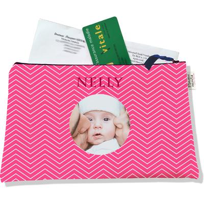 Porte ordonnances personnalisable zippé pour bébé fille Enfant - photo et texte de votre choix (POZ2086-2015)