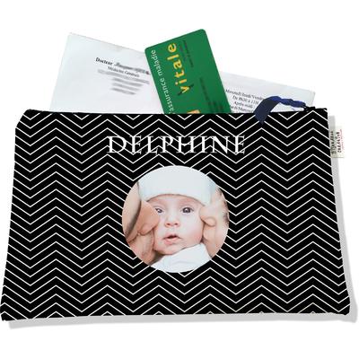Porte ordonnances personnalisable zippé pour bébé fille Enfant - photo et texte de votre choix (POZ2087-2015)