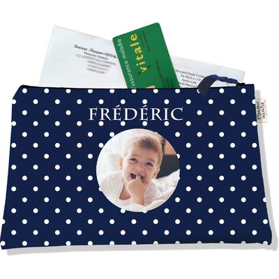 Porte ordonnances personnalisable zippé pour bébé garçon Enfant - photo et texte de votre choix (POZ2099-2015)
