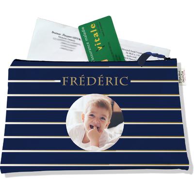 Porte ordonnances personnalisable zippé pour bébé garçon Enfant - photo et texte de votre choix (POZ2100-2015)