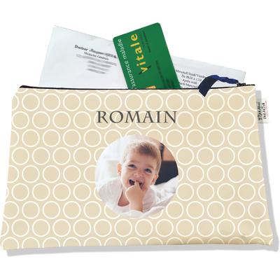 Porte ordonnances personnalisable zippé pour bébé garçon Enfant - photo et texte de votre choix (POZ2109-2015)