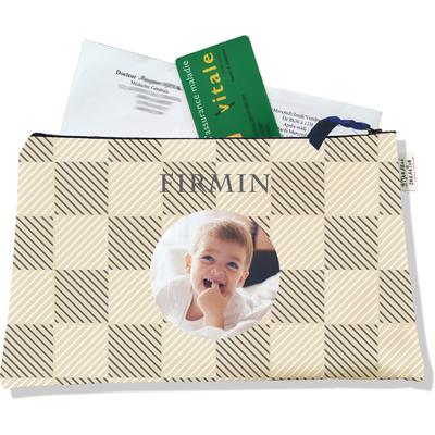 Porte ordonnances personnalisable zippé pour bébé garçon Enfant - photo et texte de votre choix (POZ2111-2015)