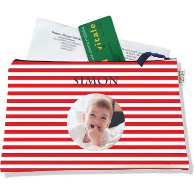 Porte ordonnances personnalisable zippé pour bébé garçon Enfant - photo et texte de votre choix (POZ2124-2015)