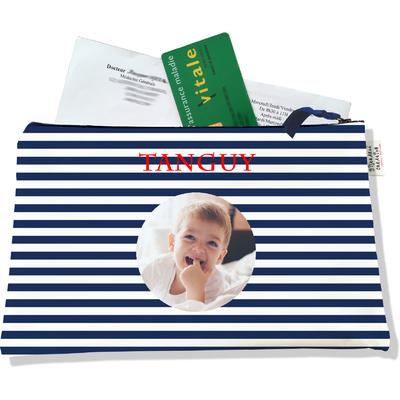 Porte ordonnances personnalisable zippé pour bébé garçon Enfant - photo et texte de votre choix (POZ2131-2015)