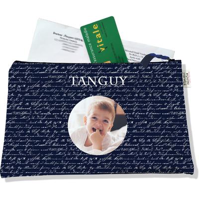 Porte ordonnances personnalisable zippé pour bébé garçon Enfant - photo et texte de votre choix (POZ714-2015)
