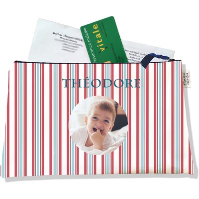 Porte ordonnances personnalisable zippé pour bébé garçon Enfant - photo et texte de votre choix (POZ2144-2015)