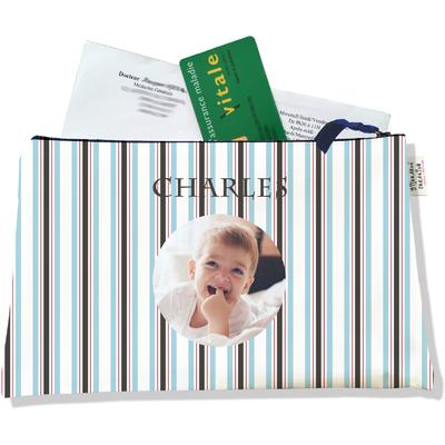 Porte ordonnances personnalisable zippé pour bébé garçon Enfant - photo et texte de votre choix (POZ2145-2015)