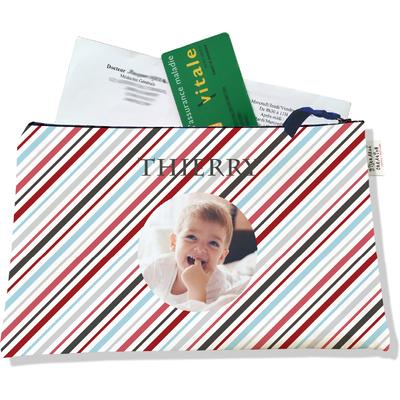 Porte ordonnances personnalisable zippé pour bébé garçon Enfant - photo et texte de votre choix (POZ2146-2015)