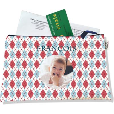 Porte ordonnances personnalisable zippé pour bébé garçon Enfant - photo et texte de votre choix (POZ2147-2015)