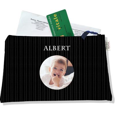 Porte ordonnances personnalisable zippé pour bébé garçon Enfant - photo et texte de votre choix (POZ2158-2015)