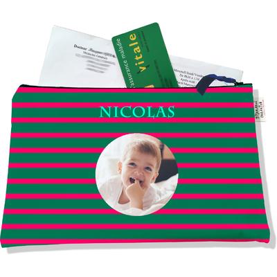 Porte ordonnances personnalisable zippé pour bébé garçon Enfant - photo et texte de votre choix (POZ2168-2015)
