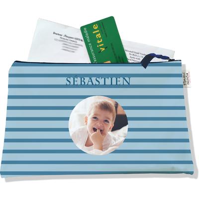Porte ordonnances personnalisable zippé pour bébé garçon Enfant - photo et texte de votre choix (POZ2169-2015)