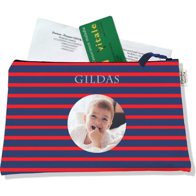 Porte ordonnances personnalisable zippé pour bébé garçon Enfant - photo et texte de votre choix (POZ2170-2015)