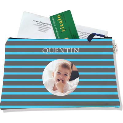 Porte ordonnances personnalisable zippé pour bébé garçon Enfant - photo et texte de votre choix (POZ2171-2015)