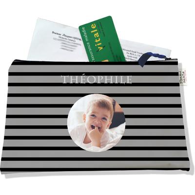 Porte ordonnances personnalisable zippé pour bébé garçon Enfant - photo et texte de votre choix (POZ2173-2015)