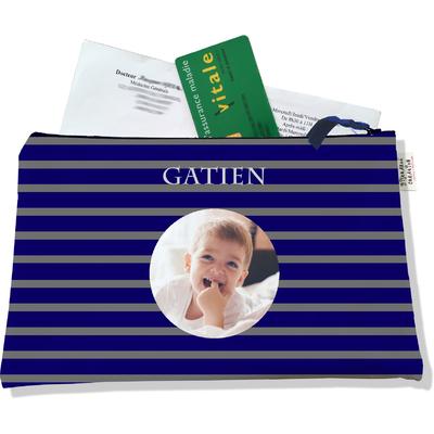 Porte ordonnances personnalisable zippé pour bébé garçon Enfant - photo et texte de votre choix (POZ2174-2015)