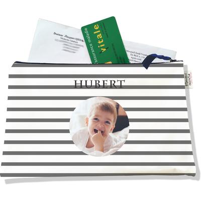 Porte ordonnances personnalisable zippé pour bébé garçon Enfant - photo et texte de votre choix (POZ2175-2015)