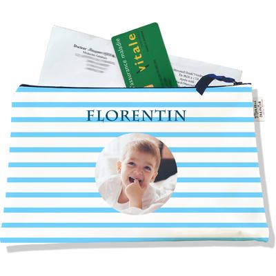 Porte ordonnances personnalisable zippé pour bébé garçon Enfant - photo et texte de votre choix (POZ2176-2015)