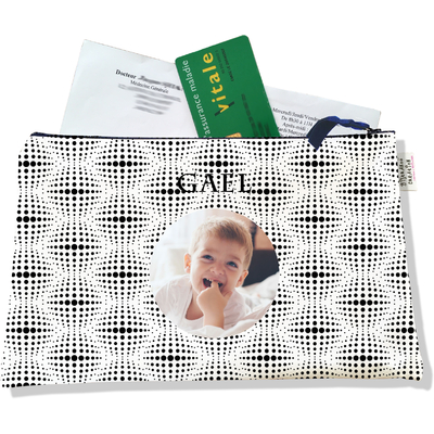Porte ordonnances personnalisable zippé pour bébé garçon Enfant - photo et texte de votre choix (POZ2506-2015)
