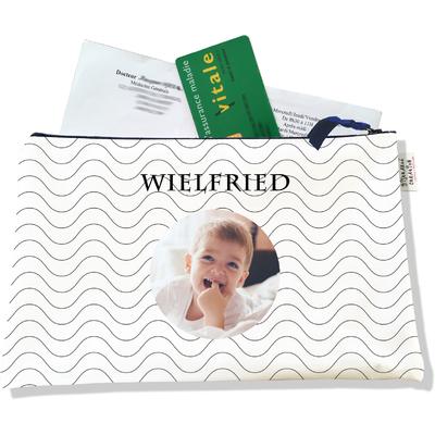 Porte ordonnances personnalisable zippé pour bébé garçon Enfant - photo et texte de votre choix (POZ2508-2015)