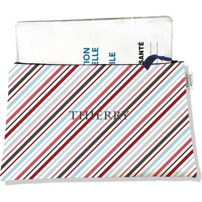 Protège carnet de santé personnalisable zippé pour homme CSZ2146